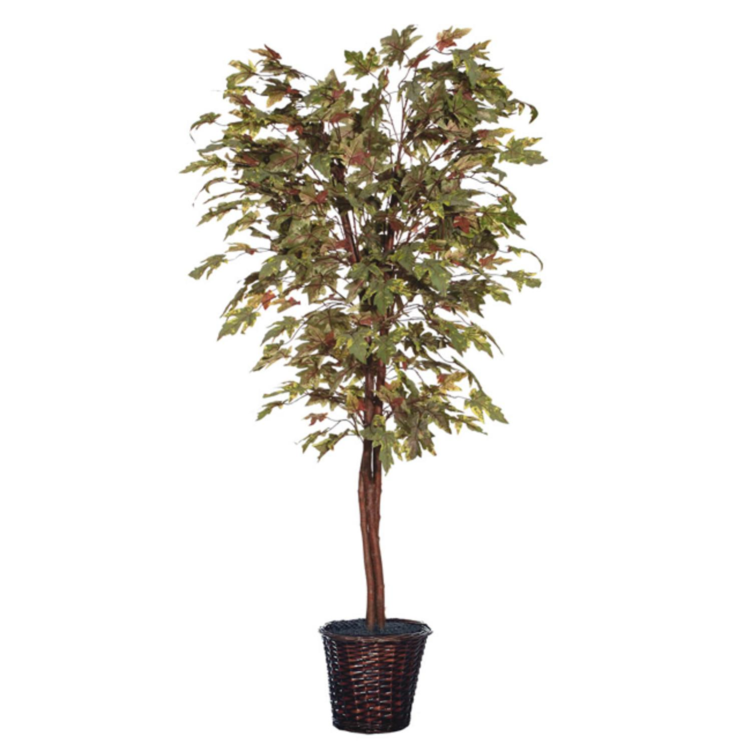 6' Potted Artificial Deluxe Multi-Colored Maple Tree