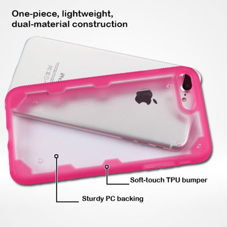 Insten Hard TPU Cover Case For Apple iPhone 7 Plus - Clear/Hot Pink - image 2 of 9