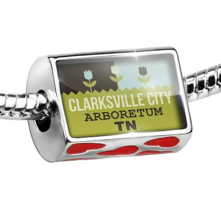 Bead US Gardens Clarksville City Arboretum - TN Charm Fits All European Bracelets ()
