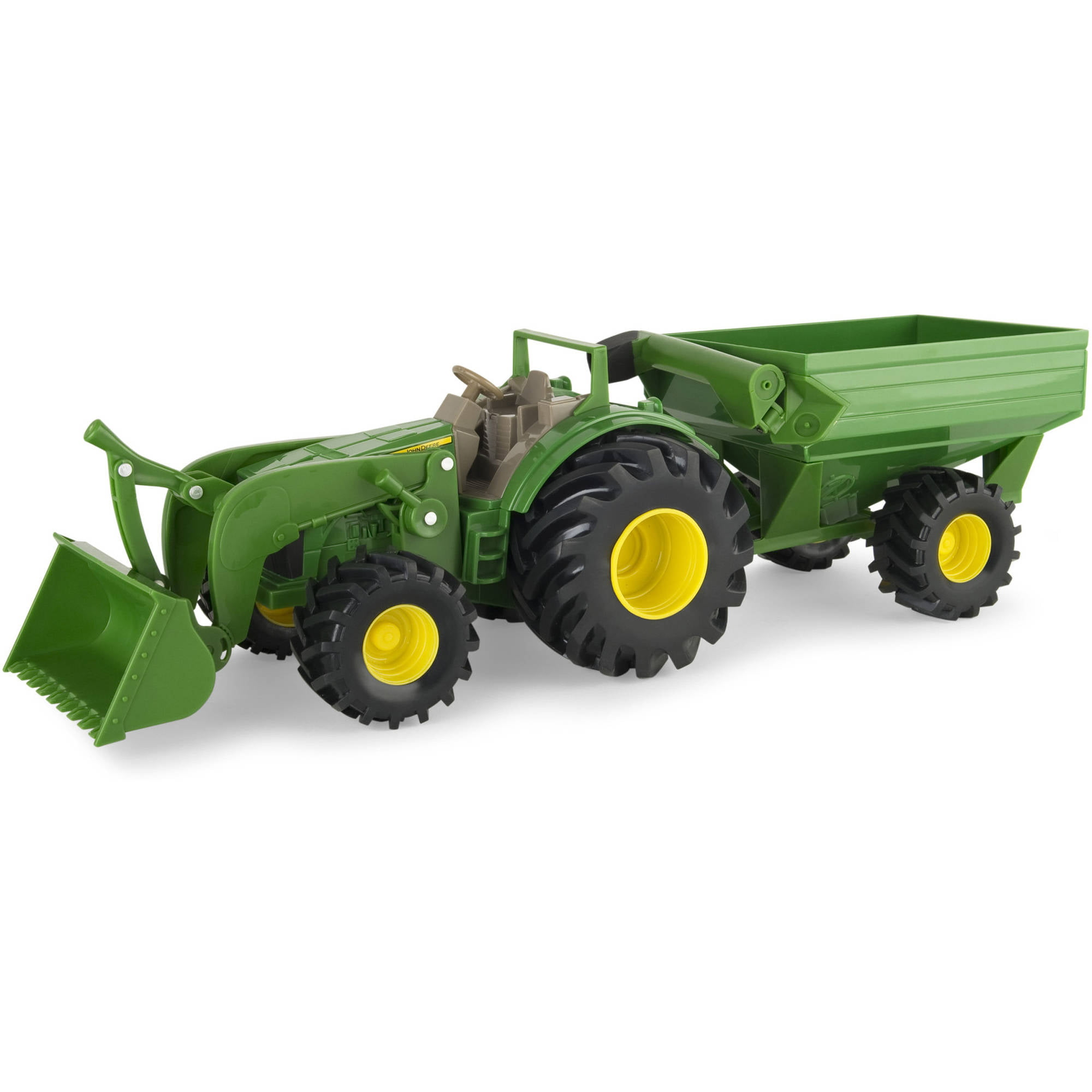 "John Deere 8"" Monster Treads Tractor with Wagon and Loader by TOMY"