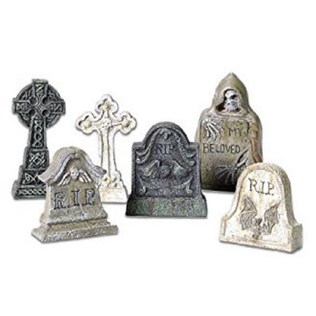 Dept 56 Halloween Village Accessories (Department 56 Halloween Village Tombstone Accessory MINI Figurines Set)