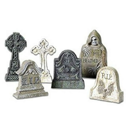 Department 56 Halloween Village Tombstone Accessory MINI Figurines Set 5653065