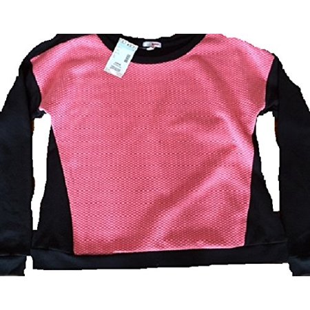Bongo Pink and Black Juniors Sweatshirt Two-tone (Medium)