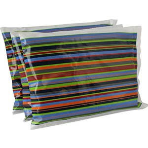 "Ice Pack for Lunch Boxes (3 Pack) by Bentology (6""x4.5"") - Stripe Design"