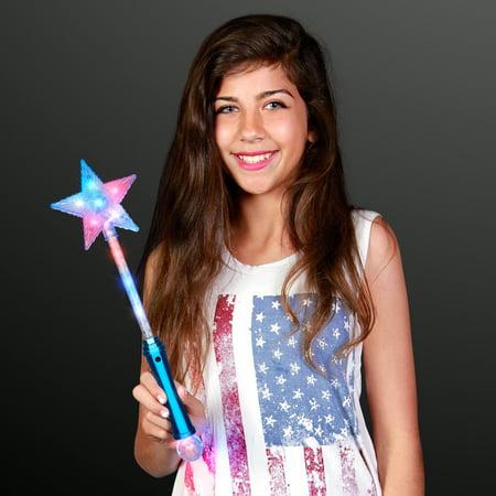 FlashingBlinkyLights Light Up Super Star Princess LED Wand - Light Up Stars