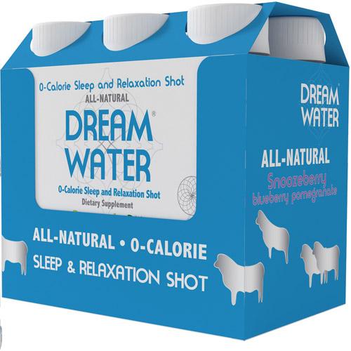 Dream Water Snoozeberry Blueberry Pomegranate Sleep & Relaxation Shot, 2.5 fl.oz., 6ct