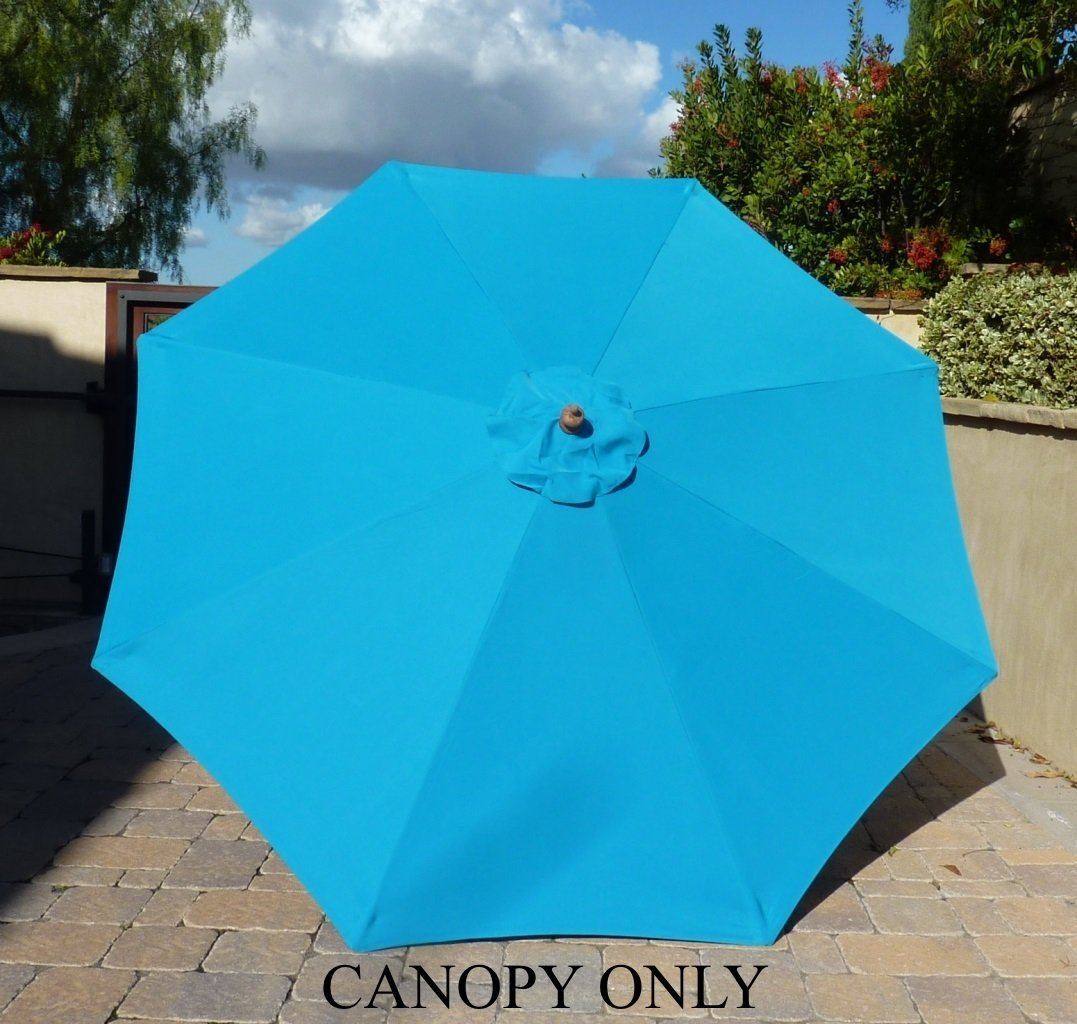 Formosa Covers 9ft Umbrella Replacement Canopy 8 Ribs in Teal (Canopy Only)