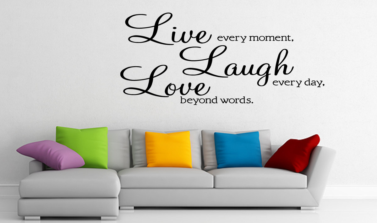 Live Laugh Love Wall Sticker Vinyl Wall Quote Art Home Decal