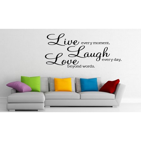 Live Laugh Love Vinyl Wall Sticker Decal Wallpaper Wall Art Home Decor (Halloween Wallpaper Live)