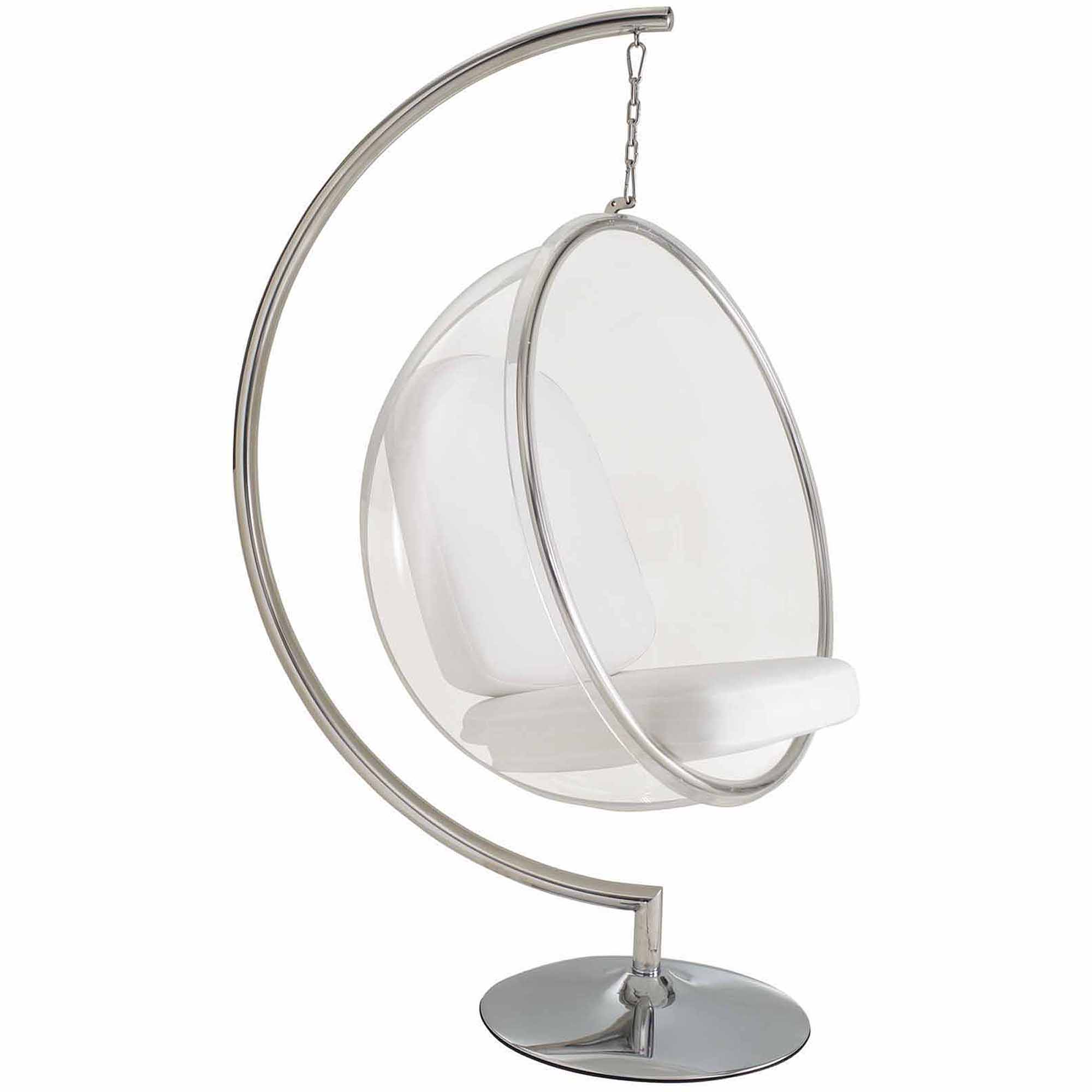 Modway Ring Lounge Acrylic Chair with Steel Rim Multiple Colors