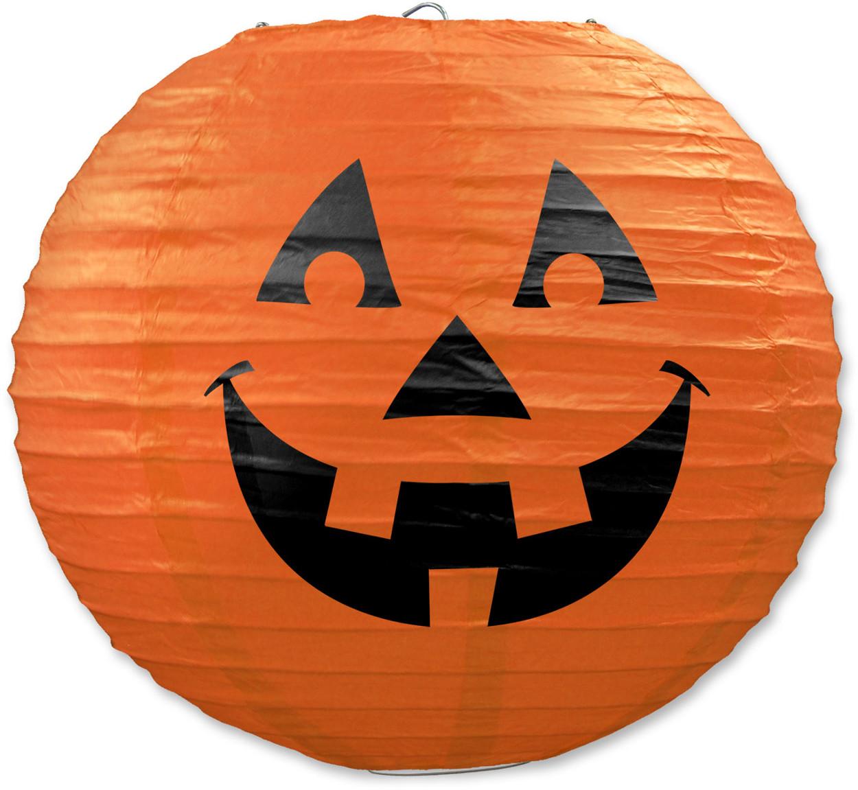 "3 Count 9.5"" Hanging Jack-O-Lantern Paper Lanterns Halloween Decorations"