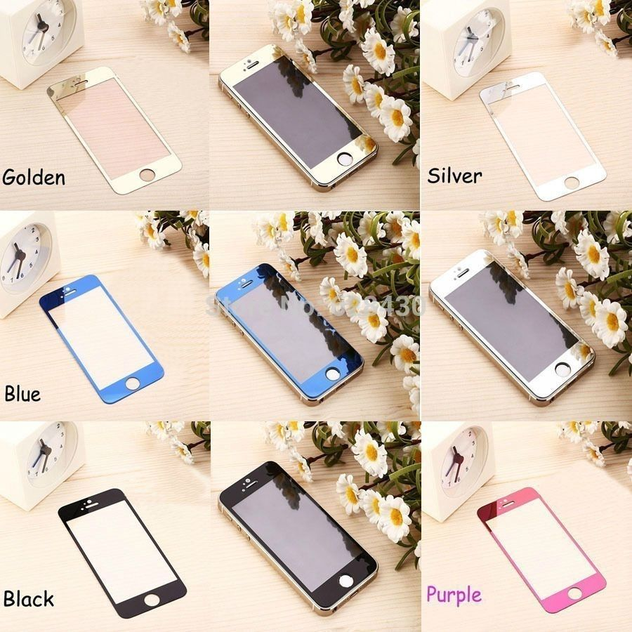 """""""Front Back Color Shiny Mirror Tempered Glass Screen Protector for iPhone 6 - 4.7 """""""""""" """"iPhone 6 4.7"""""""""""""""