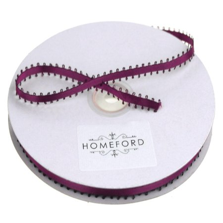 Picot-edge Double Faced Satin Ribbon, 3/16-Inch, 50 Yards, Wine
