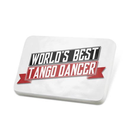 Porcelein Pin Worlds Best Tango Dancer Lapel Badge –