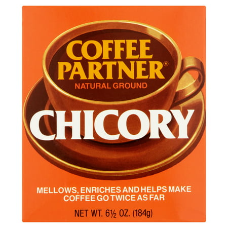 Coffee Partner Natural Ground Chicory Coffee, 6 1/2 oz, 12 pack