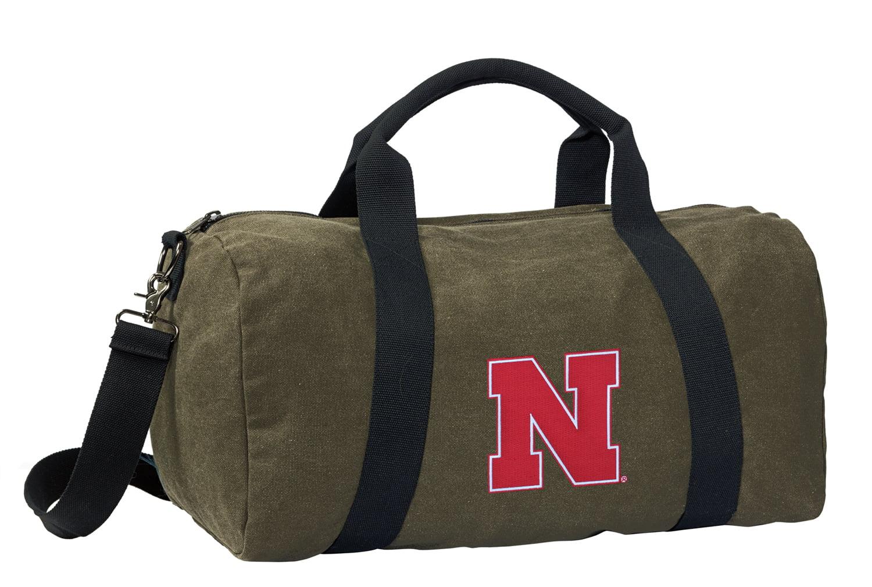 Nebraska Huskers Duffle Bag CANVAS Nebraska Huskers Luggage Bag by