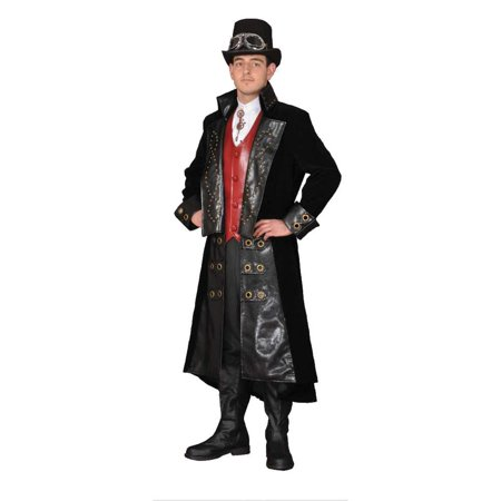 Adult Black Steampunk Gentleman's Suit Theater Costume (Steampunk Suit)