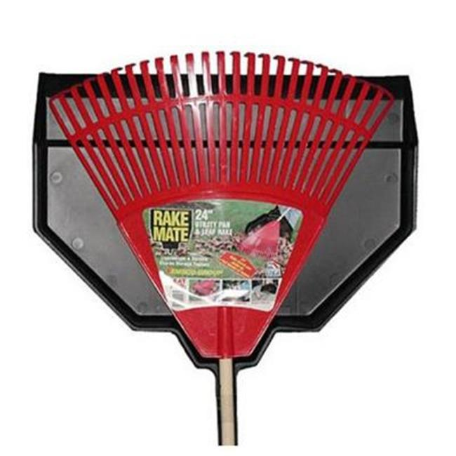 EmscoGroup 2852 Red Leaf Rake With Utility Pan, 24 inch
