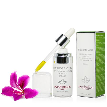 Orchid Vitamins - Orchidee Vitae Precious Organic Age Defying Facial Oil, with Orchid Flower, Argan and Maracuja, 1oz