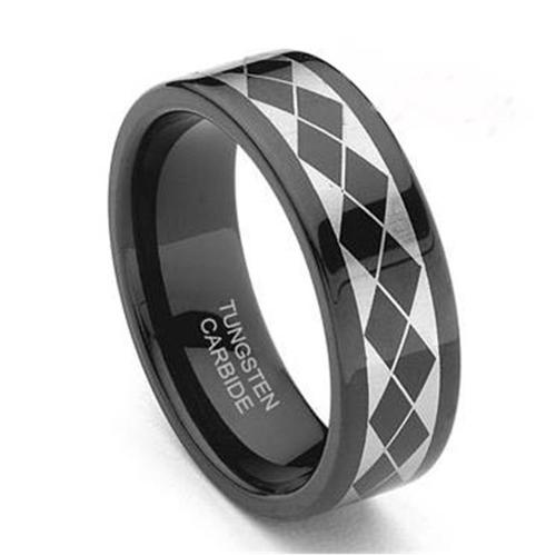TUNGSTEN 27B85 WEDDING BAND - Size 8. 5