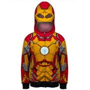 iron man marvel comics zip up mask youth costume hoodie sweatshirt