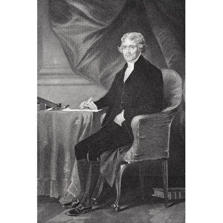 Thomas Jefferson 1743-1826 Third President Of The United States Primary Author Of Declaration Of Independence From Painting By Alonzo Chappel Canvas Art - Ken Welsh  Design Pics (11 x