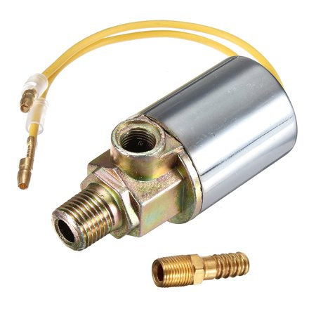 "Air Horn Electric Solenoid Valve Switch 1/4"" Chrome 12V 24V  Train Truck Heavy Duty 1/4 BARB Fitting 1/8 inch NPT Male Female Inlet Outlet 180 PSI Car Vehicle Auto Truck Van"