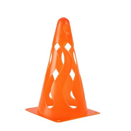 AngelCity 4Pcs Sports Training Football Soccer Field Stackable Soft Plastics Cones Equipment Set