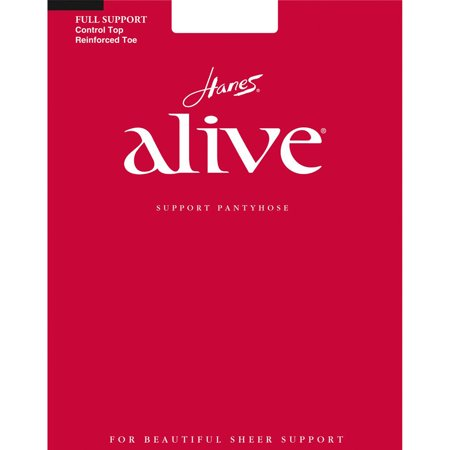 Hanes Alive Full Support Control Top Reinforced Toe Pantyhose, Style 810