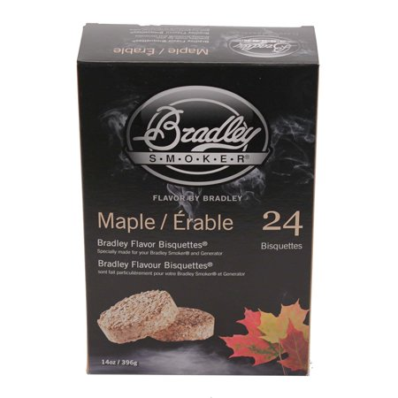 s BTMP24 Maple Bisquettes Smoker, 24-Pack, Maple flavored bisquettes By Bradley Smoker