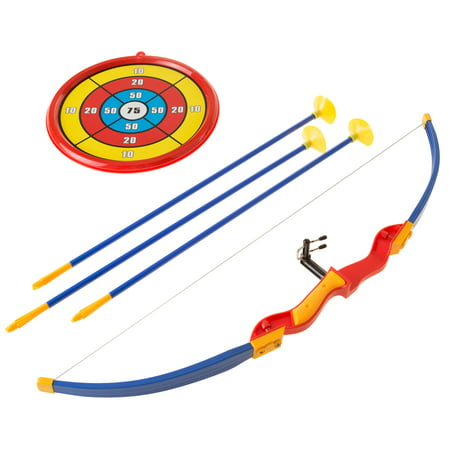Kids Bow and Arrow Set with 3 Suction Cup Arrows, Target - Safe Toy Archery Game Kit for Boys and Girls By Hey! Play!](Hawkeye Bow And Arrow For Kids)
