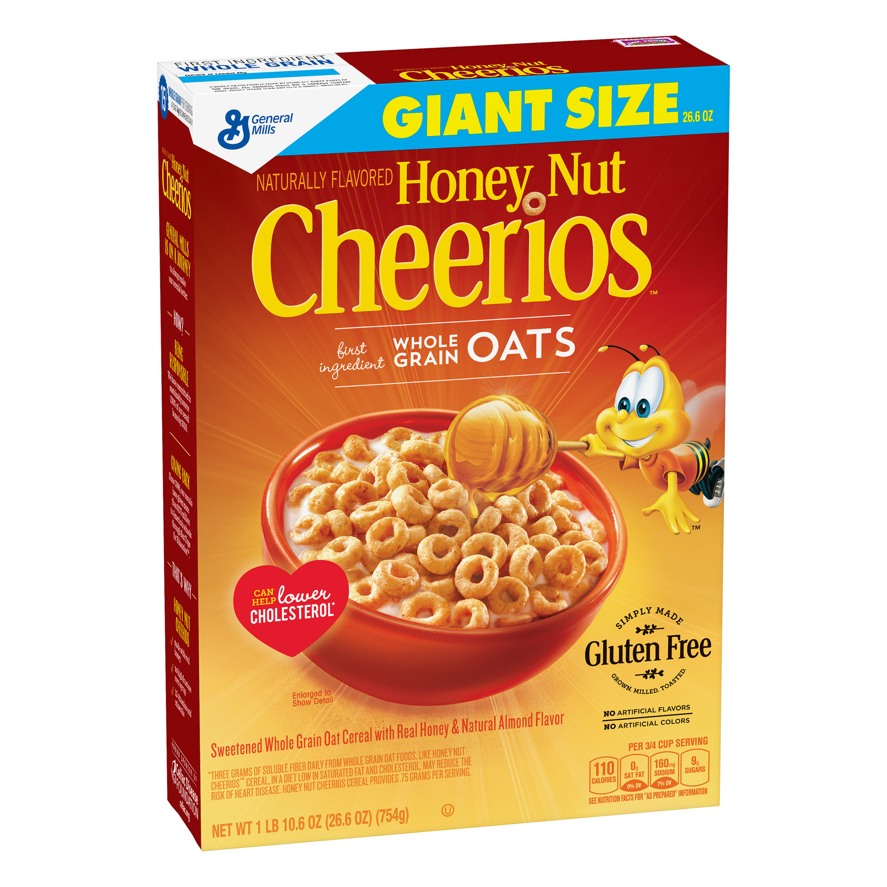 Honey Nut Cheerios Gluten Free 26.6 oz Giant Size Cereal