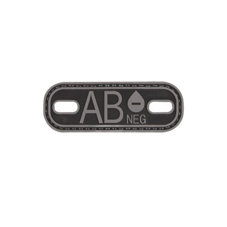 5ive Star Gear AB NEG, AB- Blood Type Medical PVC Patch/Bootlace Tag, 1