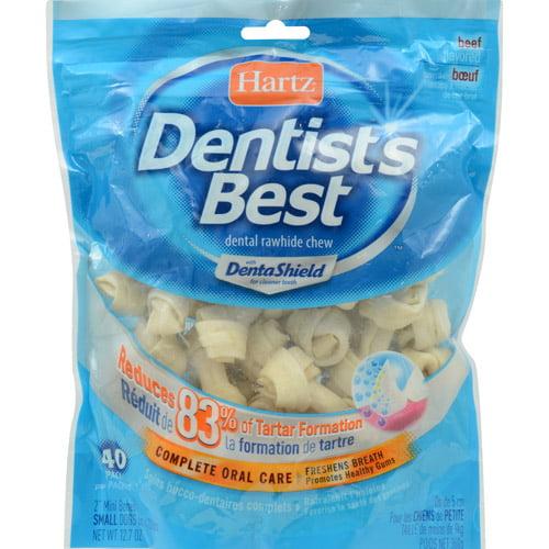 "Hartz Dentist's Best Small Dog 2"" Dental Rawhide Chews, 40 count"