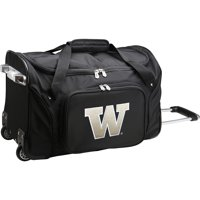 "Washington Huskies 22"" 2-Wheeled Duffel Bag - Black - No Size"