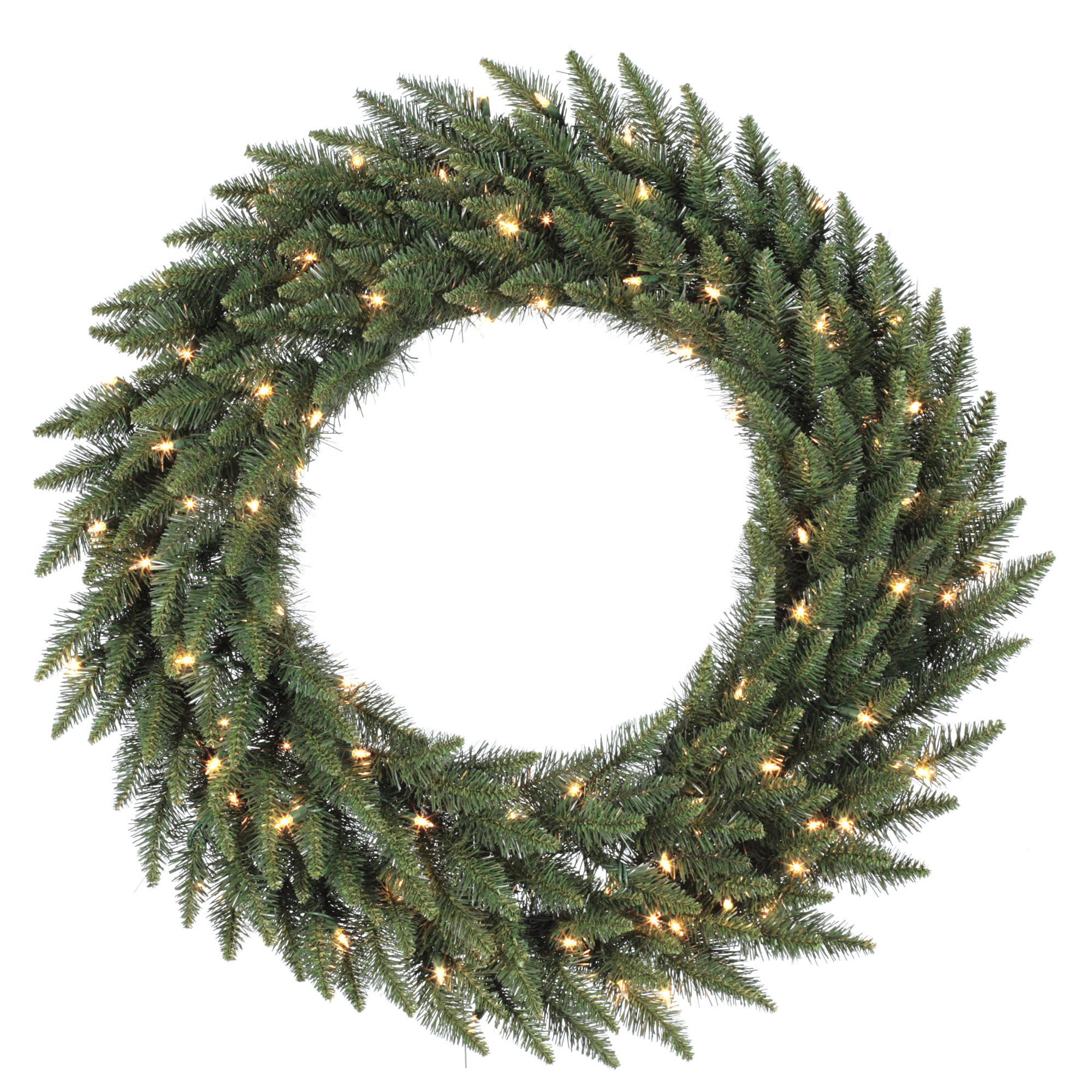 "Vickerman 84"" Camdon Fir Wreath 600 LED Warm White Lights / 2)ctn"