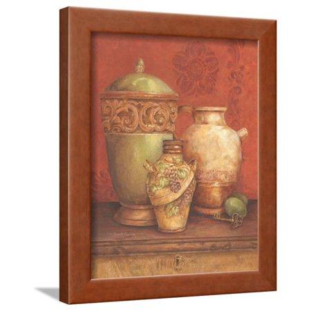 Tuscan Urns I Framed Print Wall Art By Pamela Gladding