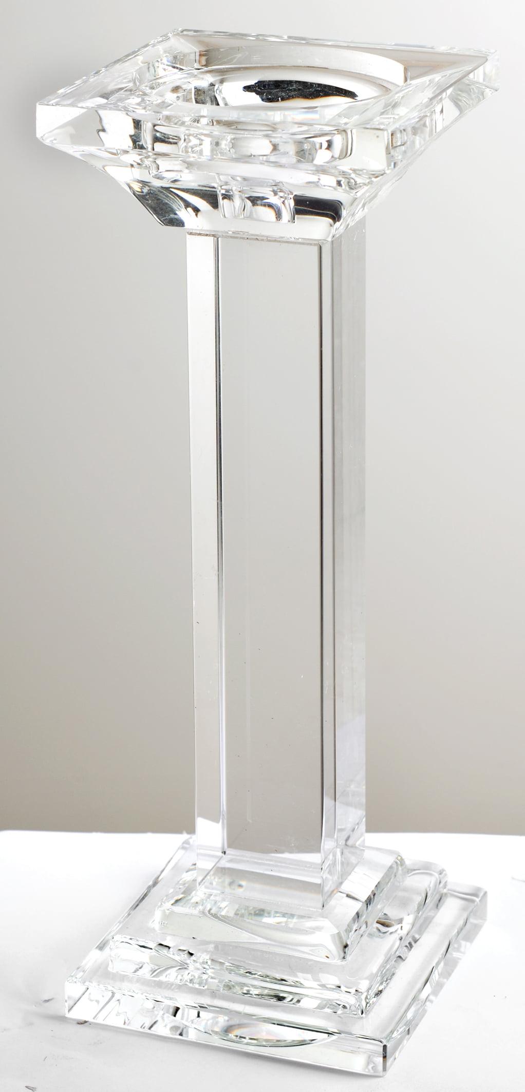 A&B Home Leon Crystal Pillar Candle Holder, Medium, 11-Inch by A&B Home