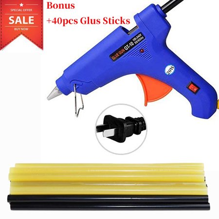 Hot Glue Gun Kits with 40pcs Glue Sticks High Temperature Melting Glue Gun for DIY Small Projects, Arts and Crafts, Home Quick Repairs,Artistic Creation and Christmas Decoration/Gifts