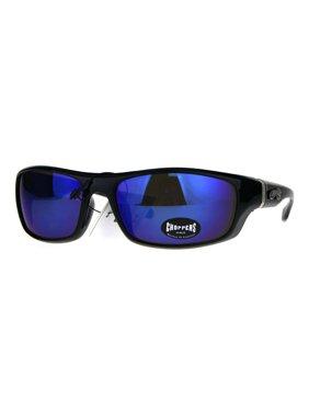 26741f710dcf Product Image Mens Choppers Classic Biker Sport Warp Rectangular Sunglasses  Orange Mirror