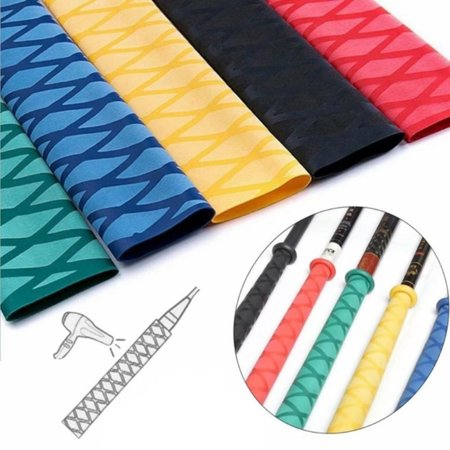 1M Heat Shrink Tubing Textured Grip Fish Rod Racket Sleeve Handle Non Slip Wrap