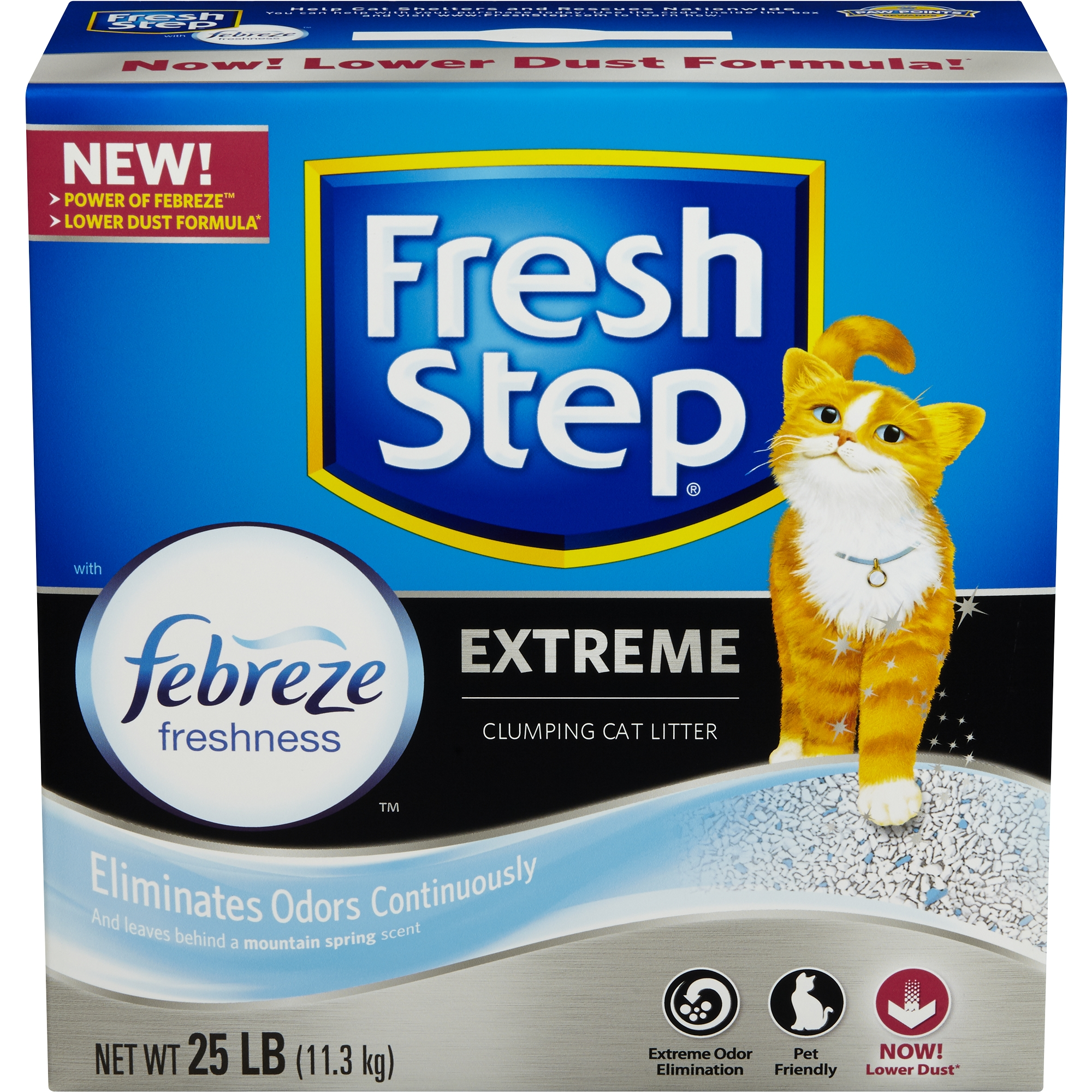 Fresh Step Extreme with Febreze Freshness, Clumping Cat Litter, Scented, 25 Pounds