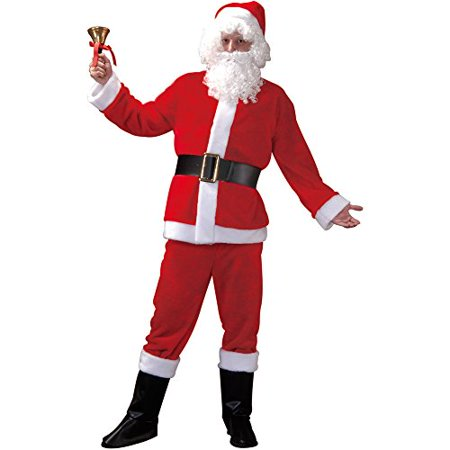 Boo! Inc. Santa Claus Adult Men's Christmas Suit, Winter Holiday Classic Costume