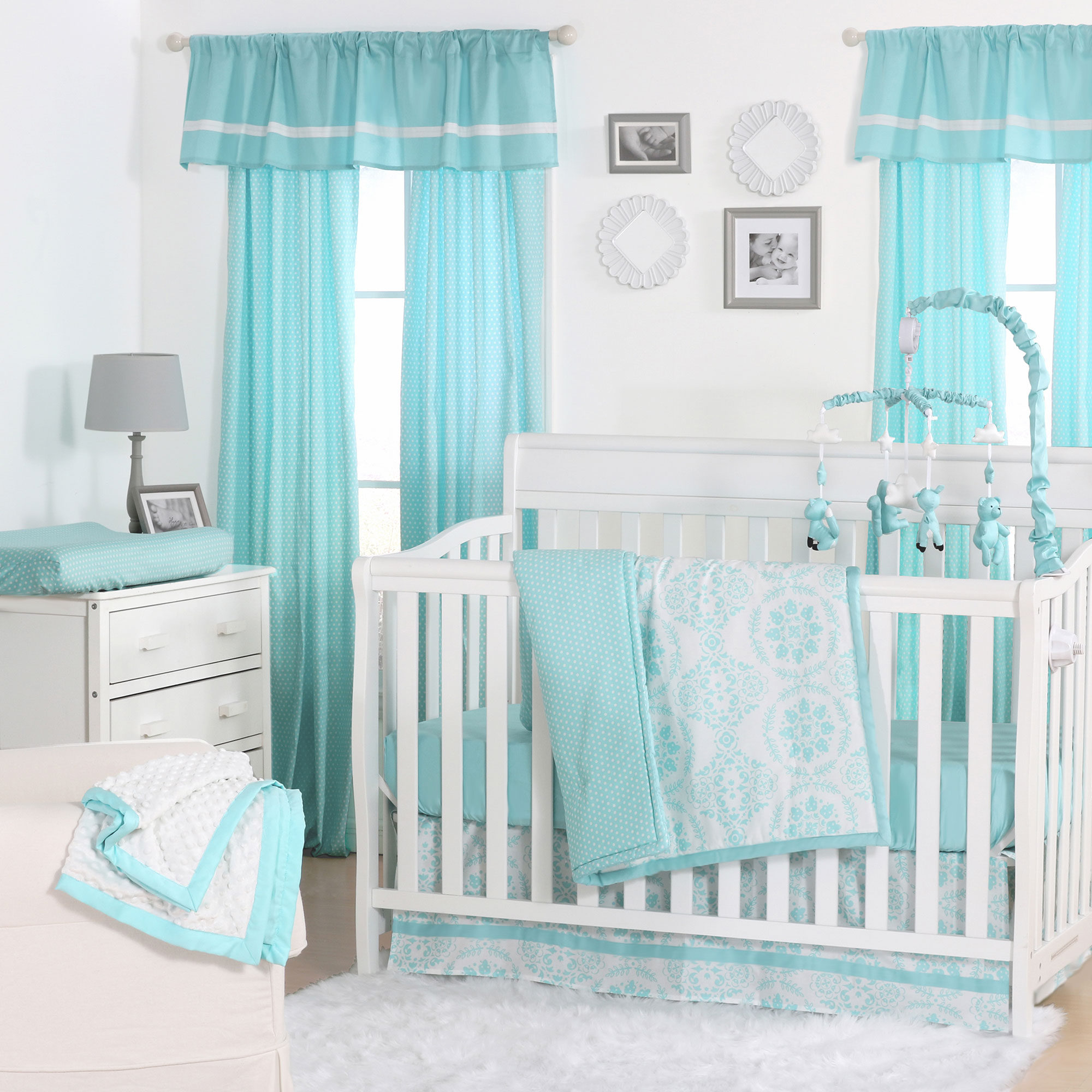 skirt bargains green pinzon sheet teal bedding crib the cribs baby best y