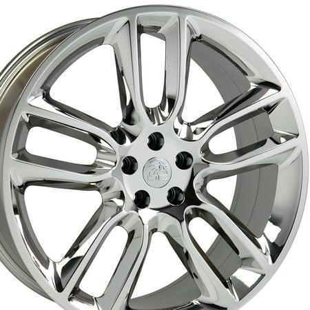 22x9 Wheel Fits Ford® SUV - Edge® Style PVD Chrome Rim, Hollander 3783 (Lincoln Chrome Rims)