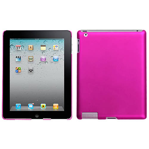 MYBAT - Protective cover for tablet - plastic - titanium solid hot pink - for Apple iPad (3rd generation); iPad 2; iPad with Retina display (4th generation)