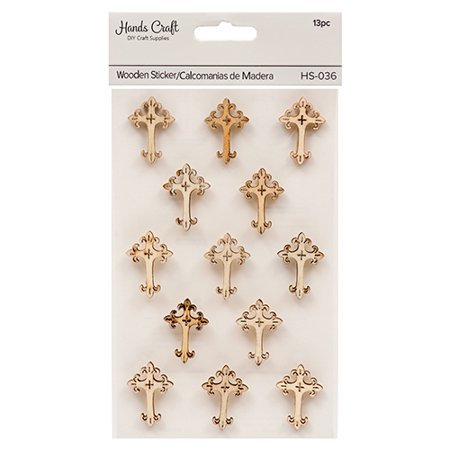 New 379563  Angels Craft Wooden Cross Stickers (12-Pack) School Supplies Cheap Wholesale Discount Bulk Stationery School Supplies Pharmacy