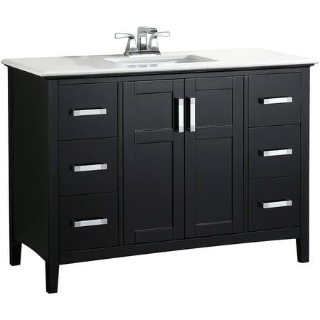 Brooklyn Max Wilshire 48 Black Bath Vanity