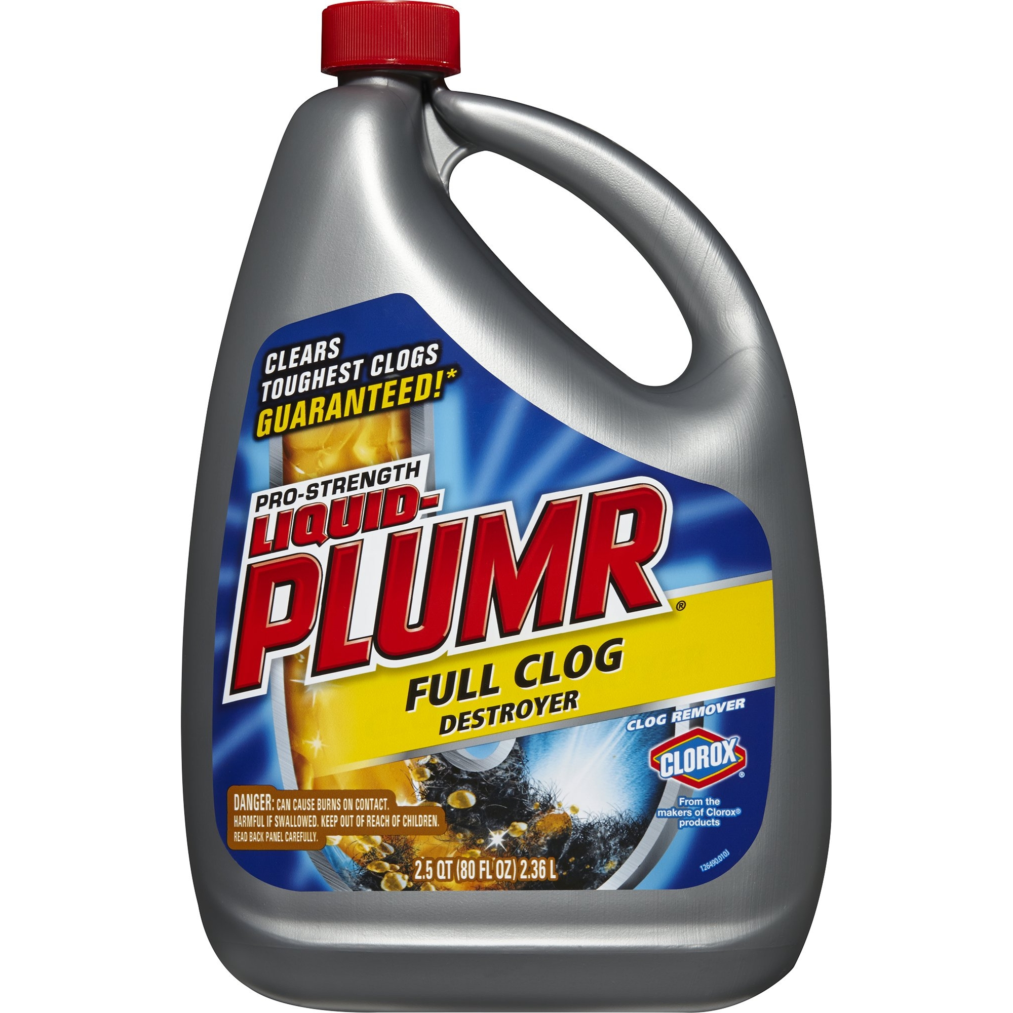 Liquid-Plumr Pro-Strength Clog Remover, Full Clog Destroyer, 80 Fluid Ounces