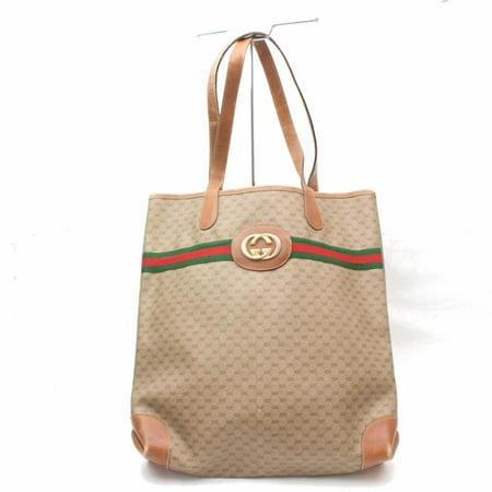 Gucci Monogram Sherry Interlock Web Large Shopper Tote 869409